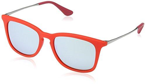 Ray-Ban Jr. Kids RJ9063s Square Sunglasses, Transparent Red Rubber, 48 mm