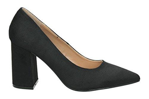 de Negro tacón Mujer 62347 Cerrada Punta con Zapatos MARE para MARIA Hv7wAtt