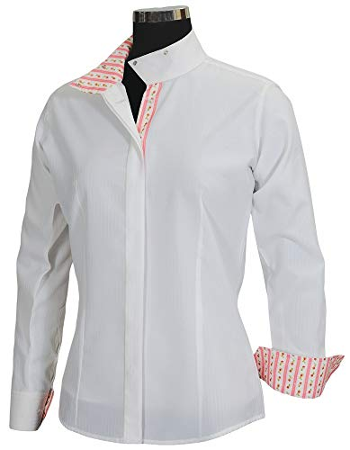 Equine Couture Women's Isabel Coolmax Show Shirt, White/Floral, 36
