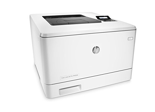 HP LaserJet Pro M452dn Color Laser Printer with Built-in Ethernet & Double-Sided Printing, Amazon Dash Replenishment ready (CF389A) 2 FEATURES DESIGNED FOR YOUR BUSINESS: color laser printer, 2-line display with keypad, duplex printing, built-in Ethernet (no wireless) PRINT AT BUSINESS SPEED: Print up to 28 pages per minute with this wireless laser printer. First page out in as fast as 8.9 seconds for black, and 9.5 seconds for color. SOLID SECURITY: Keep printing safe from boot up to shutdown with security features that guard against complex threats.