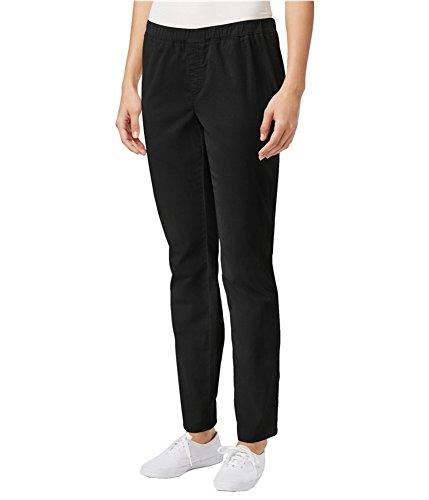 Karen Scott Womens Petites Comfort Waist Pull On Corduroy Pants Black PL -