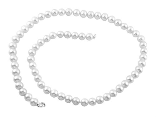 Finejewelers 7.5-8.00mm White Potato Freshwater Cultured Pearls 18 Inch Necklace Sterling Silver by Finejewelers