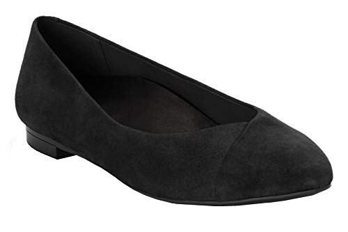 (Vionic with Orthaheel Technology Women's Caballo Flat (7 B(M) US, Black Suede))