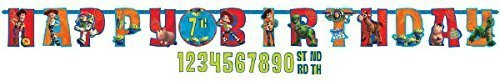 Disney Pixar Toy Story Kids Birthday Party Jumbo Add An Age Letter Banner 10 Ft. (1ct)