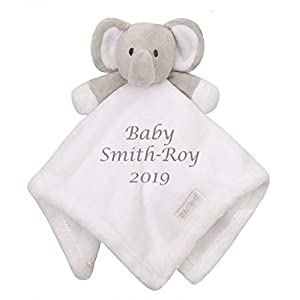 Unique Baby Shower Gift | Personalised Embroidered Soft Baby Comforter