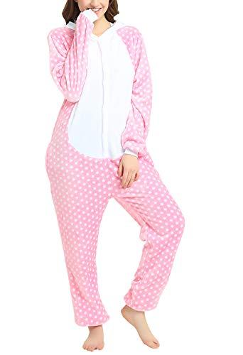 TBB One Piece Unisex Adult Cosplay Plush Pyjamas Halloween Onesie Cartoon Costumes Animal Pajamas (M,Hello Kitty 2) -