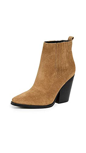KENDALL + KYLIE Womens Suede Closed Toe Ankle Fashion Boots, Saddle, Size 10.0 ()