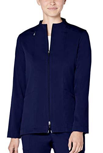 - Adar Pro Scrubs for Women - Tailored Funnel Neck Scrub Jacket - P7200 - Rich Navy - 2X