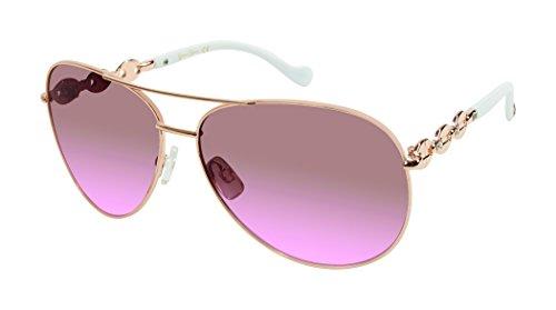 Jessica Simpson Women's J5088 Rgld Aviator Sunglasses, Rose Gold, 59 - Aviator Sunglasses Gold Simpson Jessica