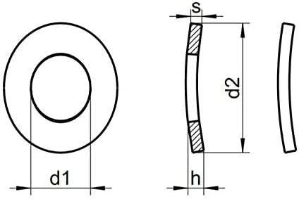 x100 Rondelle /Élastique Cintr/ée DIN 137 A Acier Inoxydable M3