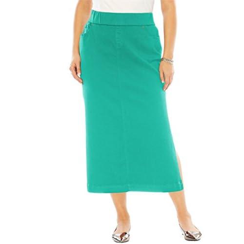 05b79ceca95 lovely Jessica London Women s Plus Size Comfort Waist Midi Skirt ...
