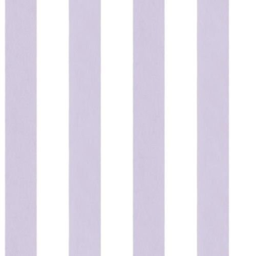 G34362 - English Florals Striped Purple & White Galerie Wallpaper - Purple Striped Wallpaper
