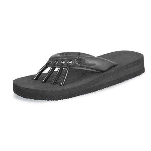 "Yoga Sandals®, Originals, Black, Large (8 - 9.5), Overal Length 10-1/2"", 1 Pair"