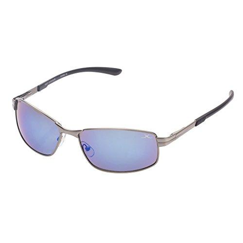 Vast UV Protected Rectangle Unisex Sunglasses (18575_AntiqueSilver 52 BlueMirror)…