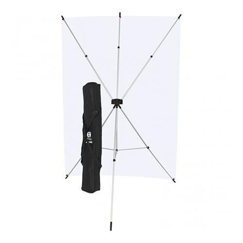 Westcott X-Drop Kit with 5' x 7' Neutral Gray Backdrop (1.5 x 2.1 m) by Westcott