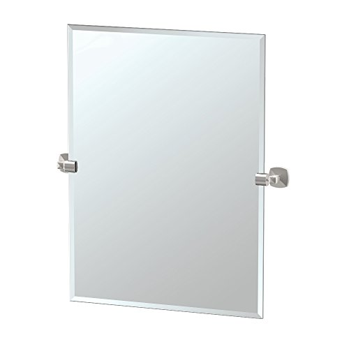 Gatco 4159S Jewel Frameless Rectangle Mirror, Satin Nickel, 31.5