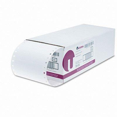 Universal Dot Matrix Printer Labels, 1 Across, 3-1/2 x 7/16, White, 5000/Box ()