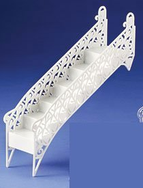 Cakesupplyshop Packaged Sk987 Romantic Princess Hearts & Kisses White Tiered Wedding Cake Step Decoration Stair -2pack -