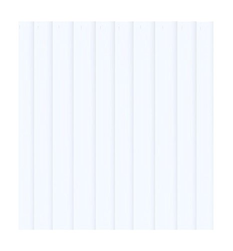 2: PVC Vertical Blind Replacement Slat Smooth (WHITE) 84
