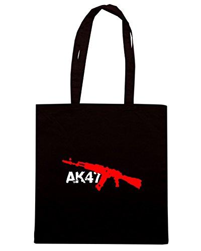 T-Shirtshock - Bolsa para la compra TR0003 AK-47 Bloody T-Shirt Negro