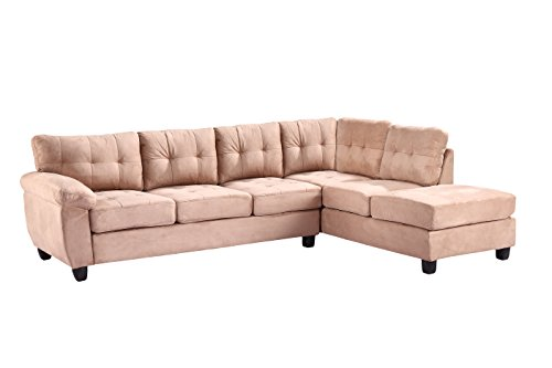 Glory Furniture G904B-SC Sectional Sofa, Mocha, 2 boxes
