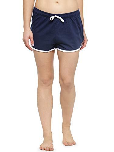 KOTTY Solid Dark Blue White Night Shorts