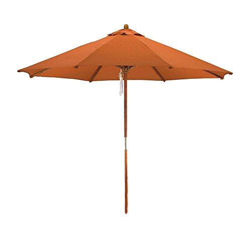 (Phat Tommy 9 Ft Hybrid Wooden Outdoor Market Umbrella - Outdoor Living & Shade)