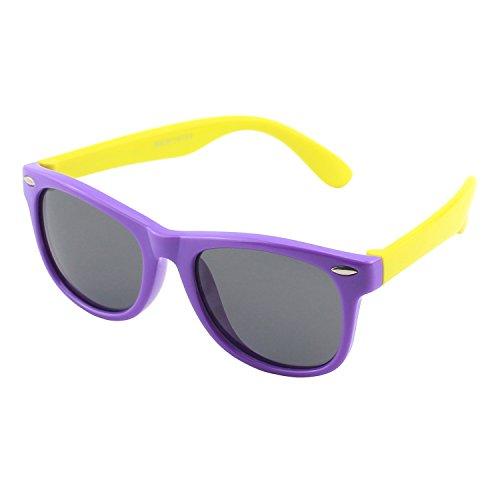 (CGID Soft Rubber Kids Polarized Sunglasses for Children Age 3-10,K02)