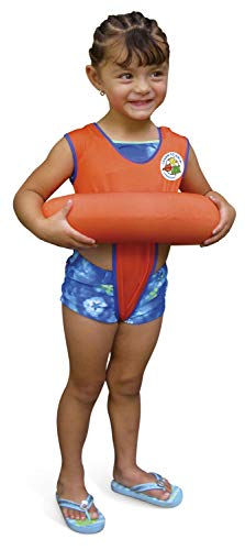 Poolmaster Learn-to-Swim Swimming Pool Tube Float Trainer, Orange