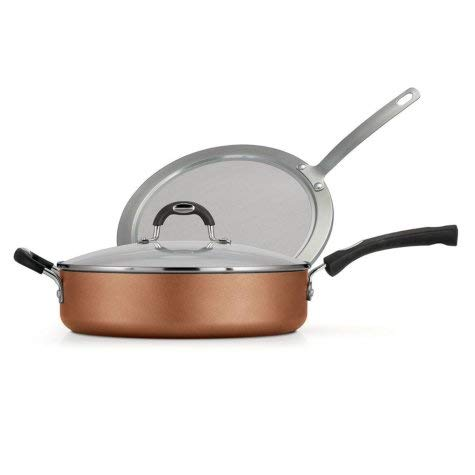 Aluminum Copper Saute Pan - Tramontina 3-Piece Deep Saute Pan Set (Copper) - 80143/588