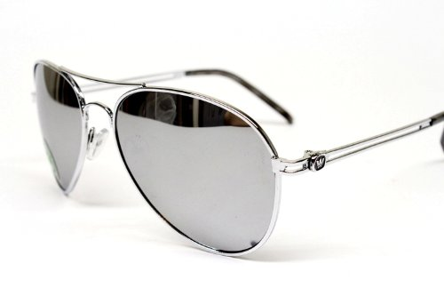T01 T-crown Aviator Metal Mirrored Sunglasses with Pouch