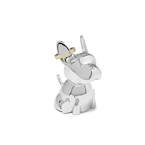 Umbra 1012674-158 Zoola Frenchie Dog, Chrome Ring Holder,2 x 1.5 x 2.5