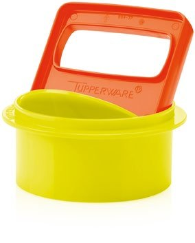 Tupperware Hamburger Press with 4 Keepers and 1 Lid