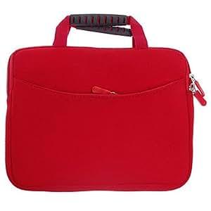Fashionable Handbag Style Protective Polyester + Sponge Pouch Bag for iPad (Red)