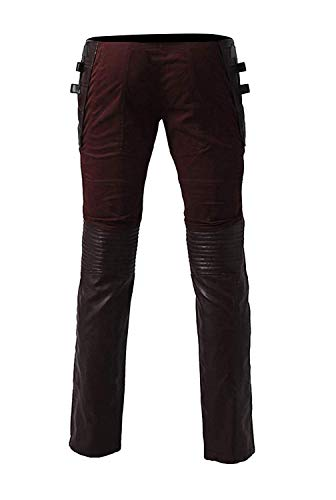Pants Fashion Leather Uomo first Real Lunghe Lord Star Giacca Maniche qrRwxZzq