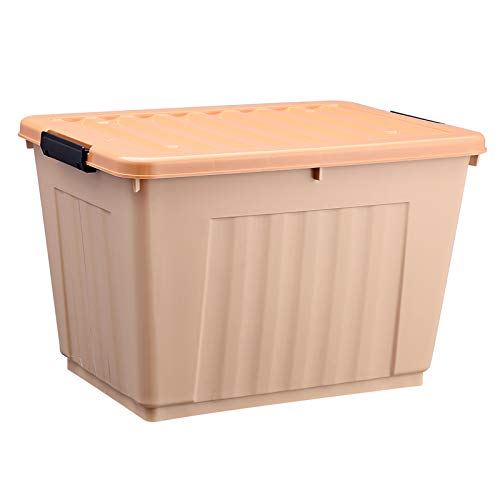 (King Plastic Toy Storage Box Clothes Fitted Quilt Finishing crates (Khaki )