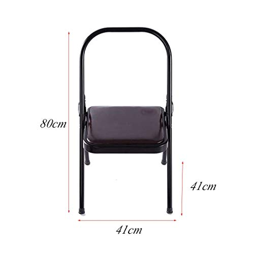 Sports Fitness Yoga Chair Iyengar Aids Yoga Chair PU Face Yoga Chair Auxiliary Chair Folding Chair Fitness Chair Lounge Chair Fishing Chair (Load Weight: 150kg) Exercise Ball Chairs by PHSP (Image #6)