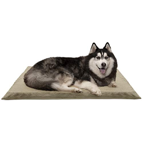 FurHaven Pet Dog Mattress   Terry Orthopedic Mat for Dogs & Cats, Clay, Jumbo