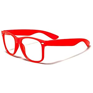 Clear Lens RX Men's Women's Nerd Glasses - Flex Frame UV400