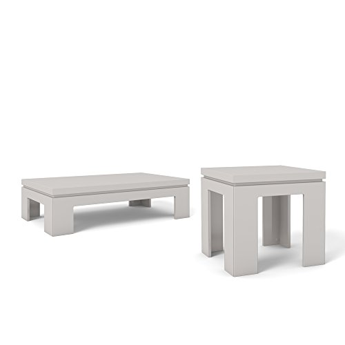Manhattan Comfort Bridge Coffee Table And End Table Collection 2 Piece Living Room Coffee Table And Accent Table Living Room Set