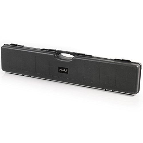 Merdia Black Hard Rifle Case with Convoluted Foam Outdoors Sporting Tactical Gun Case 47.64