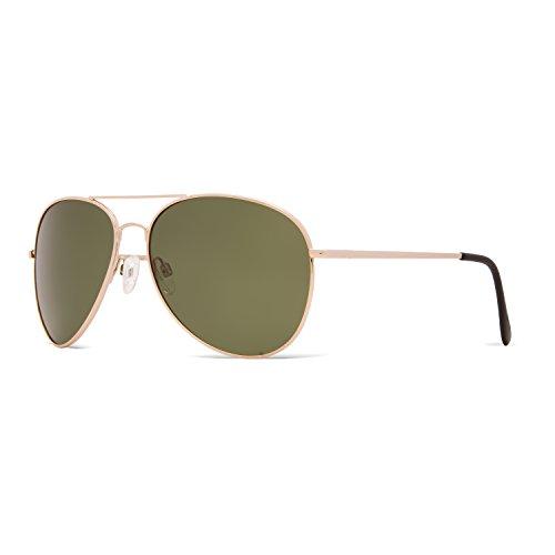 Pacific Sol Aviator Sport Sunglasses, 100% UV Protection, Metal - Military Discount Glasses