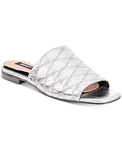 DKNY Roy Flat Sandals Silver -