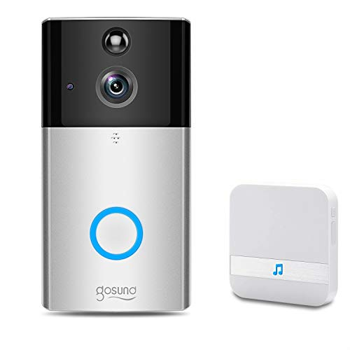Gosund Video Doorbell Wireless, WiFi Smart Doorbell Camera Security 720P HD with CD Quality Chime, Cloud Storage Real-Time Two-Way Talk and Video, Night Vision, PIR Motion Detection for iOS Android