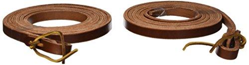 Heavy Rein - Hamilton Extra Heavy Leather Split Reins, 1/2-Inch by 7-Feet, Brown