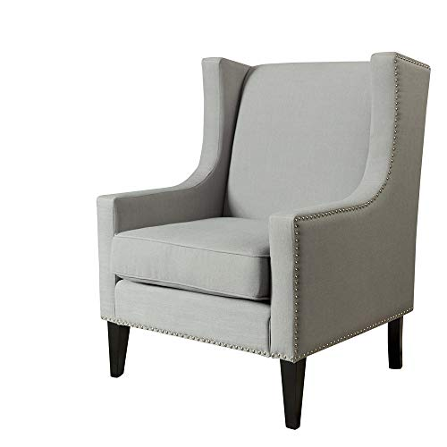Price comparison product image Buybuybuy Modern Accent Fabric Chair Single Solid Color Sofa Comfy Upholstered Arm Chair Living Room Furniture 29.328.739.6 Inch (gray)