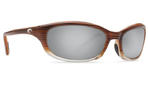 Mirror Wave 580 Glass (Costa Del Mar Sunglasses - Harpoon- Glass / Frame: Wood Fade Lens: Polarized Silver Mirror Wave 580 Glass)