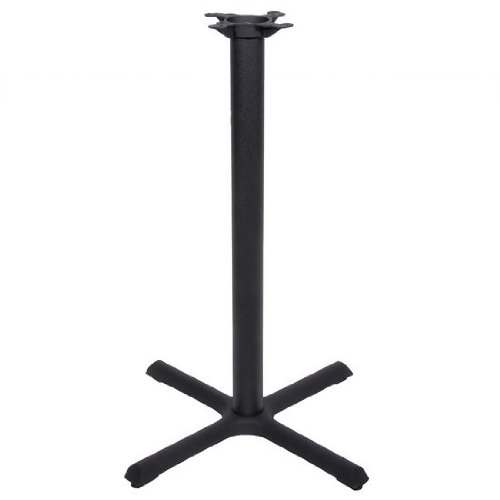Peter Meier 2000 Series Table Bar Height Base, 30 inch x 30 inch , Style X, 40 inch High, Black Matte (40 Inch Bar Table)