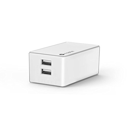 mophie Dual Port High Power (4.2 Amp) Wall Travel Charger for mophie Juice Pack Battery Case, Powerstation, Tablets & All USB Powered Devices - White (Certified Refurbished)