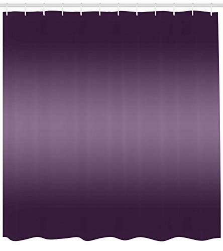 Ambesonne Ombre Shower Curtain, Hollywood Theater Inspired Purple Colored Modern Design Room Decorations, Fabric Bathroom Decor Set with Hooks, 75 Inches Long, Plum -